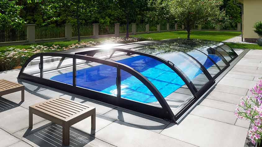 Pool-Überdachung / Poolabdeckung Albixon Dallas Clear Pool-Überdachung / Poolabdeckung Albixon Dallas Clear