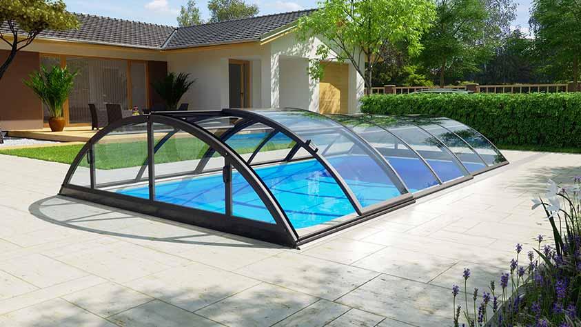Pool-Überdachung / Poolabdeckung Albixon Klasik Clear Pool-Überdachung / Poolabdeckung Albixon Klasik Clear