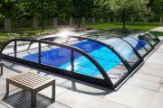Albixon Dallas Clear A 363x635cm Pool-Überdachung / Schwimmbad-Überdachung