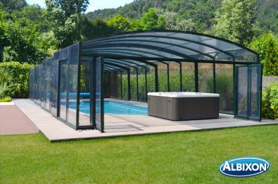 Albixon Casablanca B 596x1264cm Pool-Überdachung / Schwimmbad-Überdachung