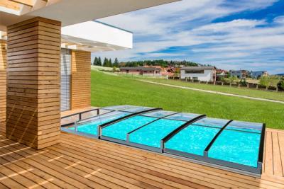 Albixon Casablanca Infinity Evo A 350x635cm Pool-Überdachung / Schwimmbad-Überdachung
