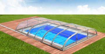 Albixon Dallas Clear A 365x635cm Pool-Überdachung / Schwimmbad-Überdachung