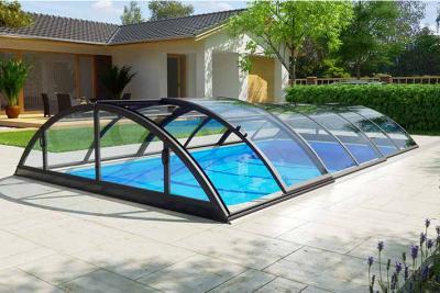 Albixon Klasik Clear A 319x635cm Pool-Überdachung / Schwimmbad-Überdachung