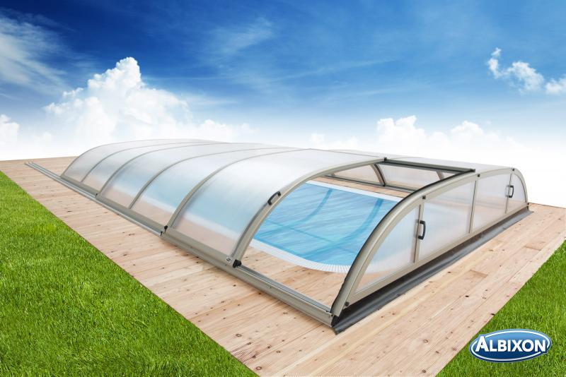 Albixon Dallas A 365x635cm Pool-Überdachung / Schwimmbad-Überdachung