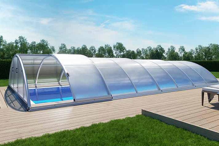 Albixon Klasik B 415x850cm Pool-Überdachung / Schwimmbad-Überdachung