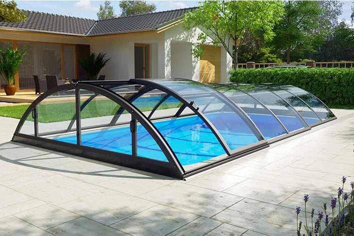 Albixon Klasik Clear B 415x850cm Pool-Überdachung / Schwimmbad-Überdachung