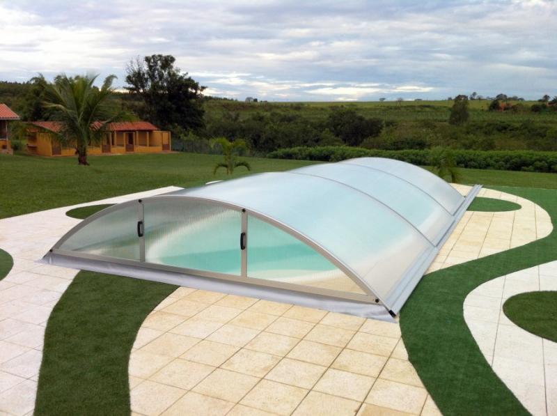 Albixon Klasik Smart B 415x840cm Pool-Überdachung / Schwimmbad-Überdachung