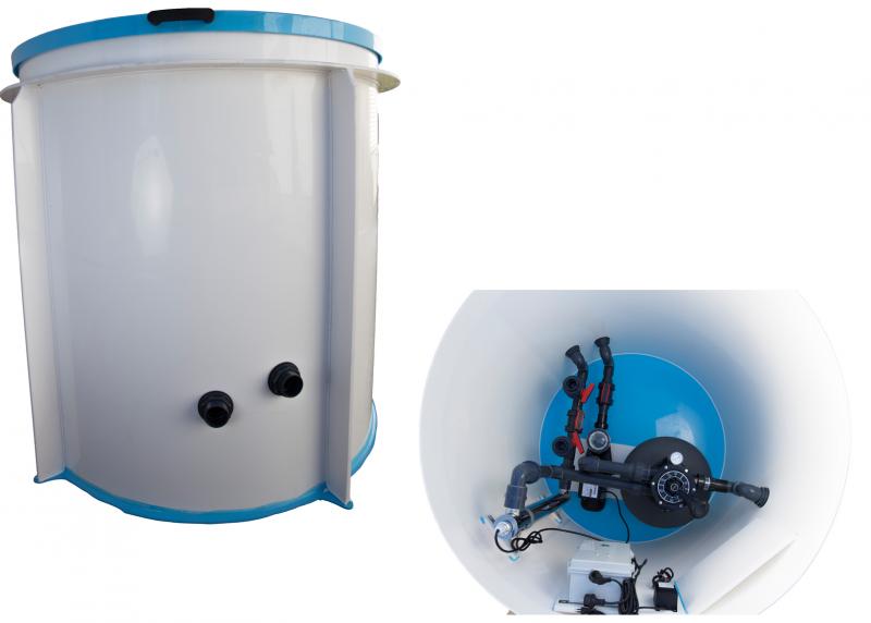 Pool-Technikschacht Basic mit Sandfilteranlage & UV-Desinfektion