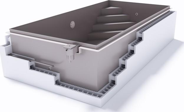 Rechteckbecken / Rechteckpool Albixon G2 mit Skimmer