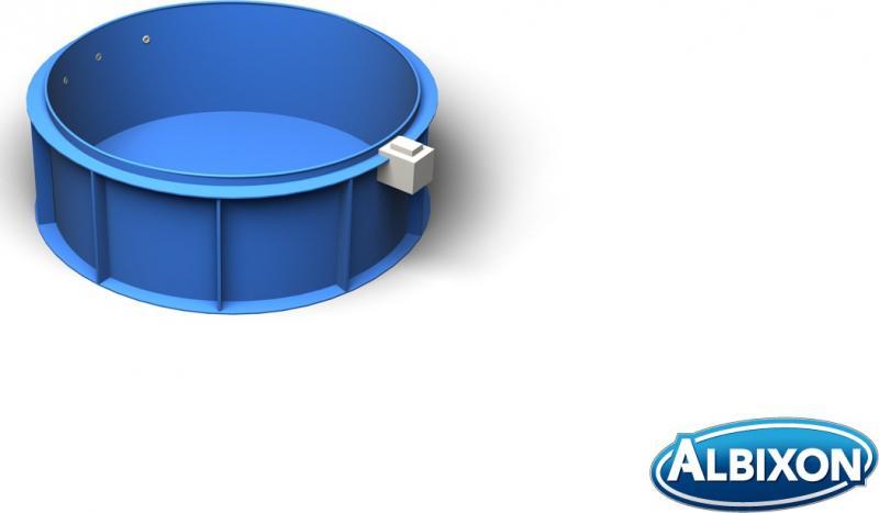Rundbecken rundpool mit skimmer pool systems for Kunststoff pool rund