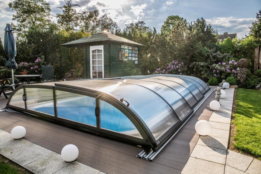 Pool-Überdachung / Poolabdeckung Albixon Dallas B 462x850cm