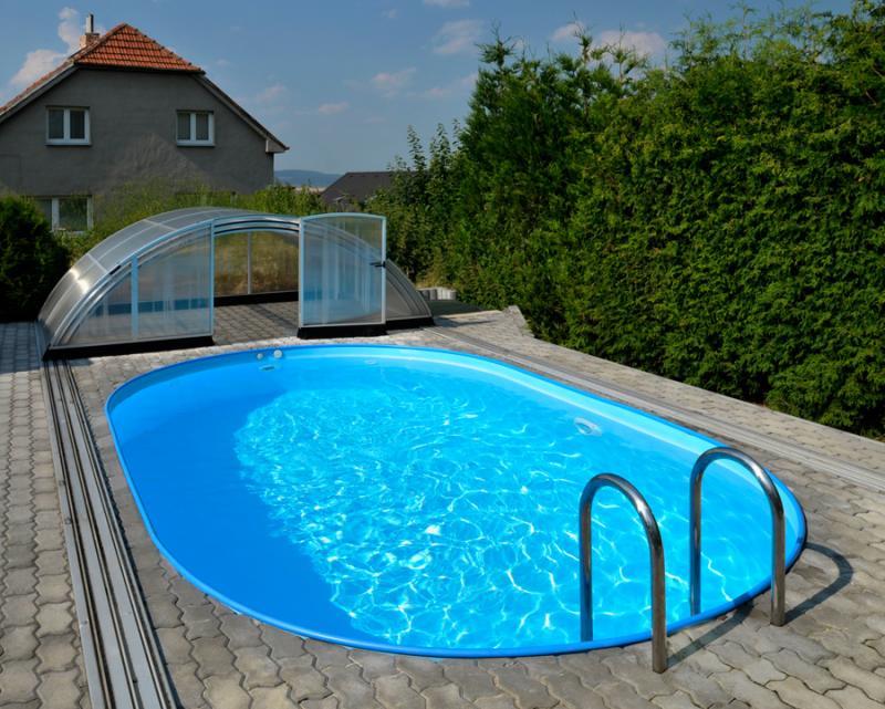 Ovalbecken ovalpool mit skimmer pool systems for Ovaler pool zum aufstellen