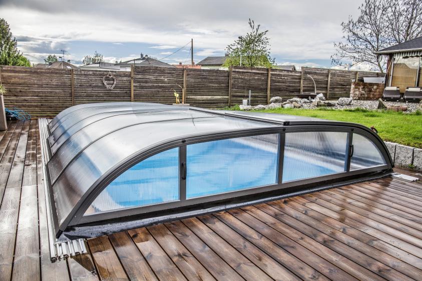 Pool-Überdachung / Poolabdeckung Albixon Dallas A 363x635cm