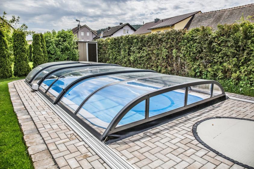 Pool-Überdachung / Poolabdeckung Albixon Dallas Clear B 462x850cm