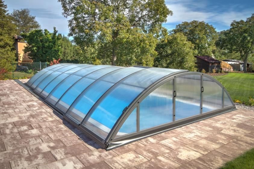 Pool-Überdachung / Poolabdeckung Albixon Klasik B 415x850cm