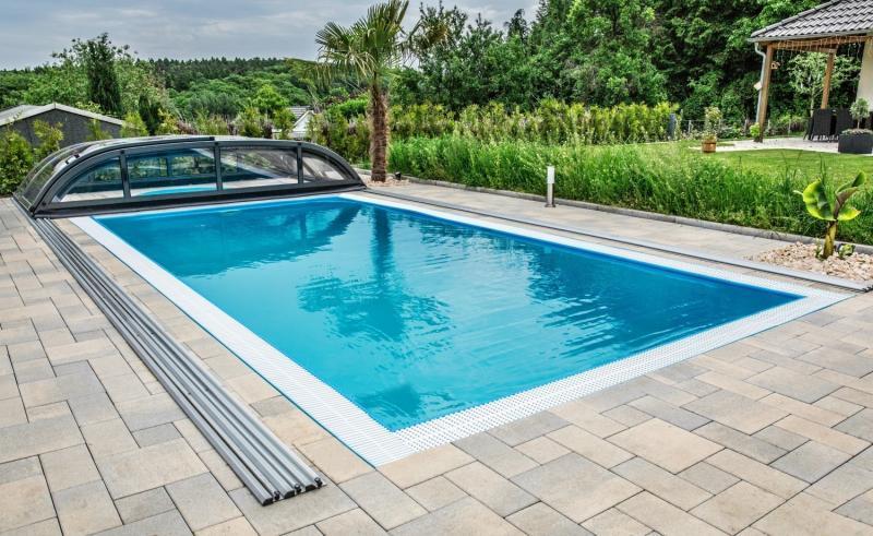 rechteckbecken rechteckpool mit berlauf pool systems. Black Bedroom Furniture Sets. Home Design Ideas