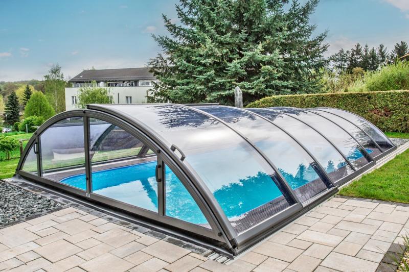 Albixon Klasik Clear C 501x1060cm Pool-Überdachung / Schwimmbad ...