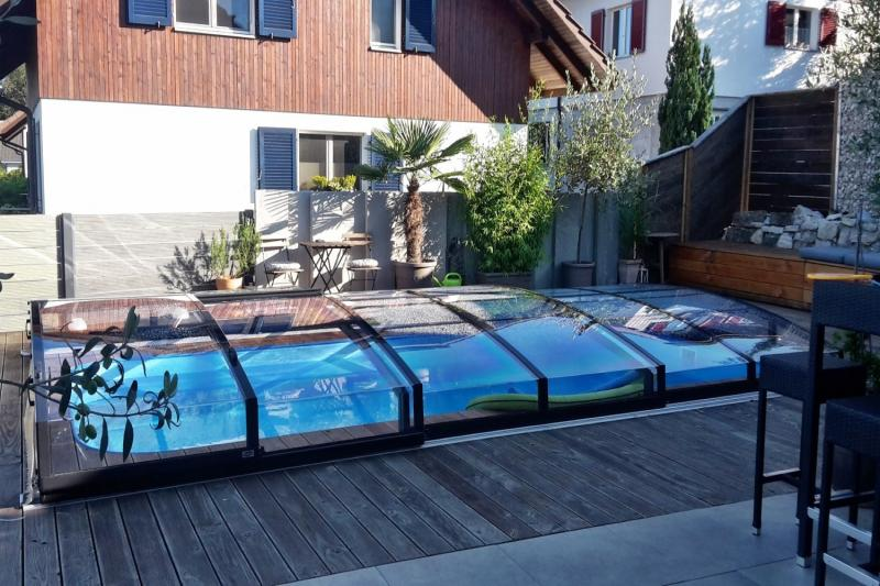 pool komplettset albixon quattro a infinity mit berdachung schwimmbecken und technikschacht 2. Black Bedroom Furniture Sets. Home Design Ideas