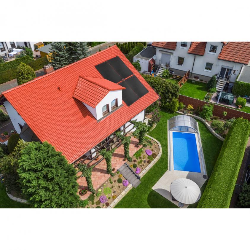 Pool-Solarheizung / Pool-Solaranlage SPL-96000 Solar Premium Line 26,64m² Absorber Komplettset, bis 96.000L