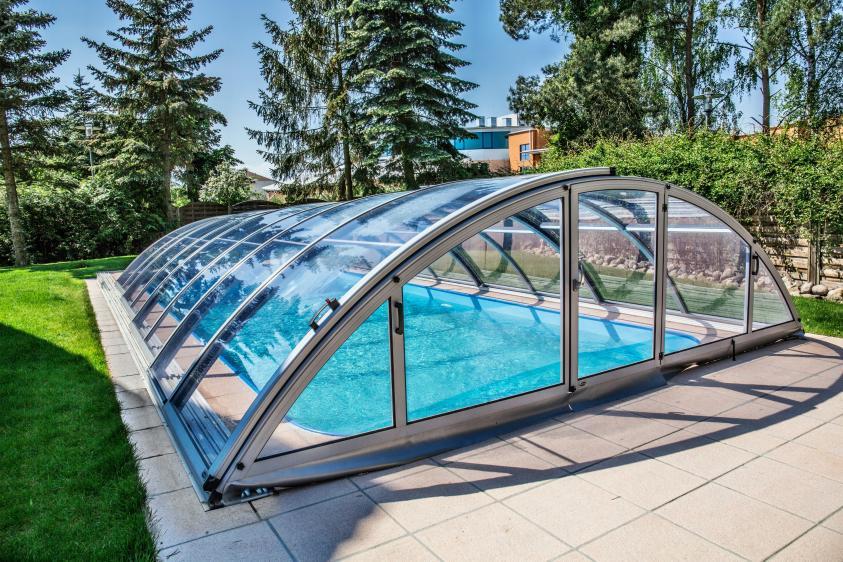 Pool-Überdachung / Poolabdeckung Albixon Klasik Clear C 501x1060cm
