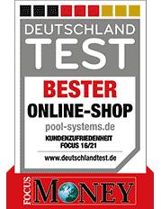 pool-systems.de Testbericht Erfahrung Bewertung Meinung Pool Systems Komplettset Überdachung Wärmepumpe